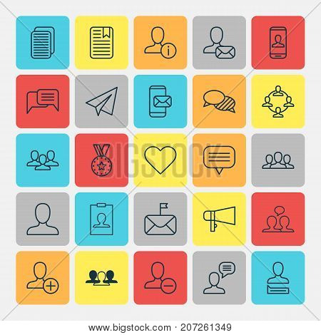 Communication Icons Set. Collection Of Remove, Significant, Conversation And Other Elements