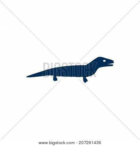 Vector Gecko Element In Trendy Style.  Isolated Lizard Icon Symbol On Clean Background.