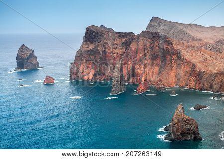 Coastal Rocky Islets, Madeira, Portugal