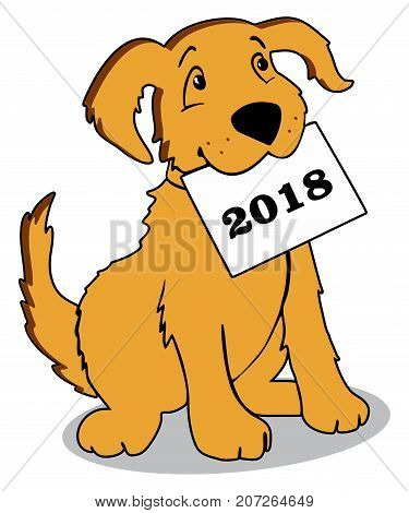 Vector happy new year greeting card celebration background with dog chinese
