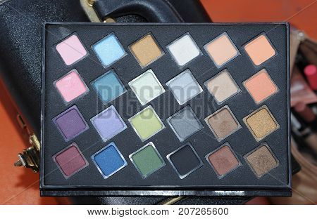 close up of powder Makeup Colors for beauty