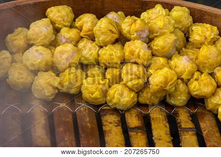 Close up of Chinese snacks or dim sum