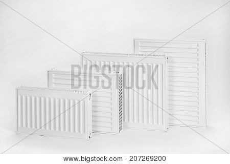 the thermal radiators isolated on a white background