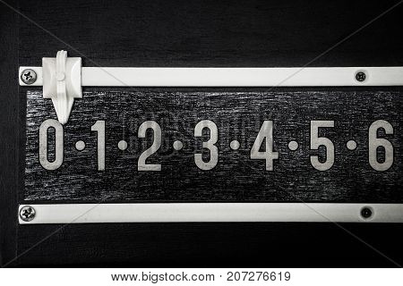 black and white snooker billiard score board