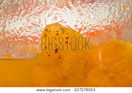 background of apricot jam. macro . Photo of abstract background