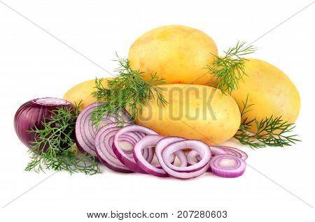 Fresh Potatoes With Onion