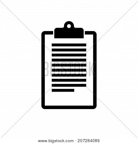 Notepad icon. Black minimalist icon isolated on white background. Notepad simple silhouette. Web site page and mobile app design vector element.