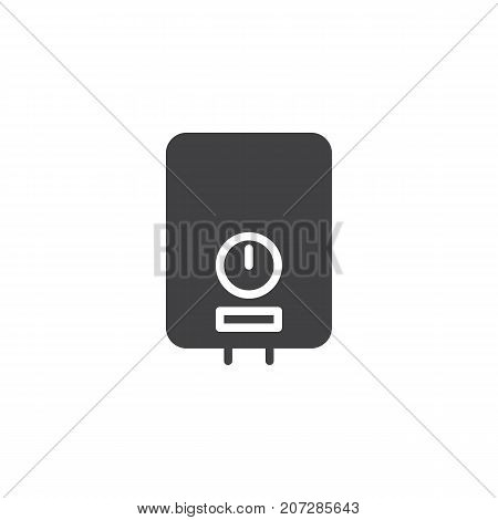 Water heater icon vector, filled flat sign, solid pictogram isolated on white. Symbol, logo illustration.