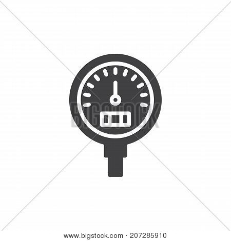 Gauge icon vector, filled flat sign, solid pictogram isolated on white. Symbol, logo illustration.