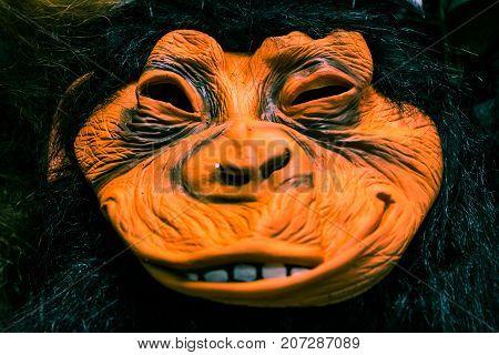 Halloween Mask Ape Closeup Holiday Costume Monkey