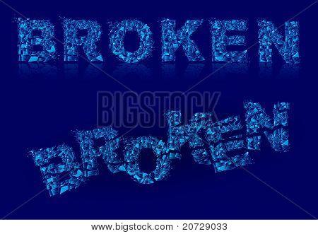 Broken Font.