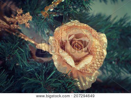 Christmas Tree celebration Ornament,   close up  decorating