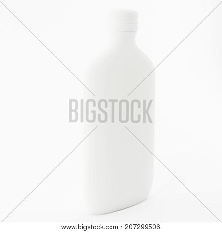 Bottle for fragrances with design in plastic and glass 3D illustration