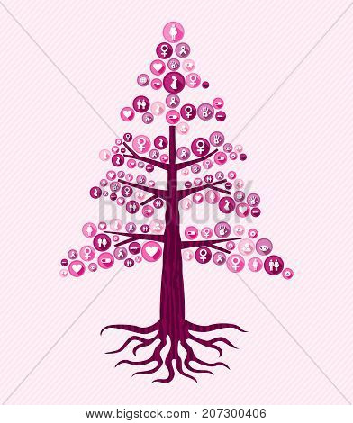 Breast Cancer Awareness Pink Health Icon Tree Art