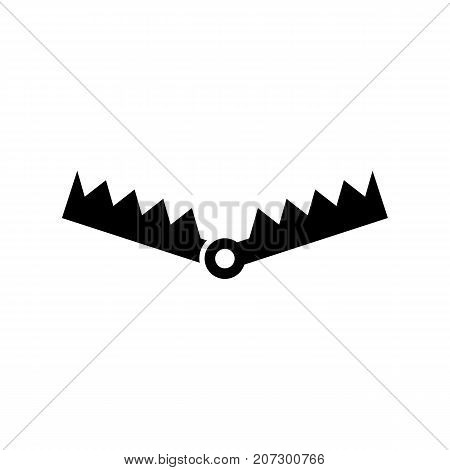 Trap icon. Black minimalist icon isolated on white background. Trap simple silhouette. Web site page and mobile app design vector element.