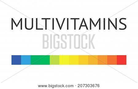 Multivitamin label inspiration, icon concept vitamins,  vector isolated