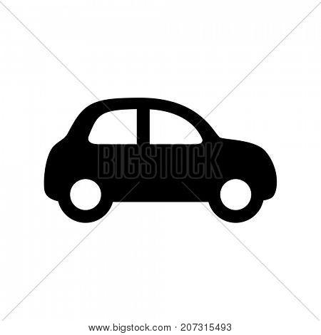 Black car icon isolated on white