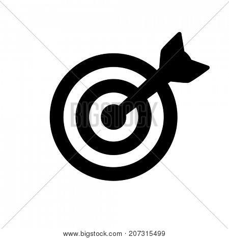 Black target icon isolated on white
