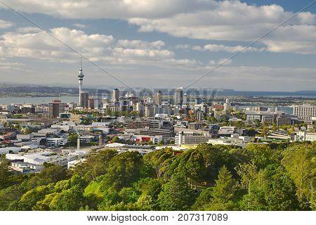 Auckland, New Zealand, viewed from Mount Eden