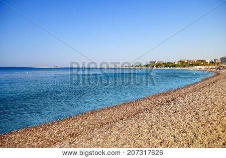 lagoon in sea landscape view of beach