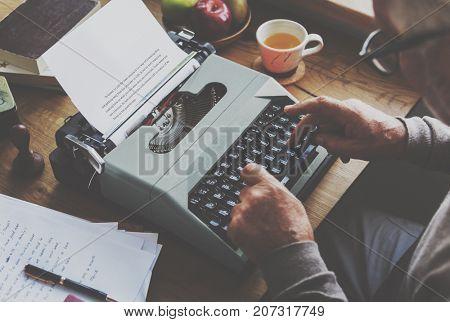 Typewriter Typing Retro Novel Literature Old Concept