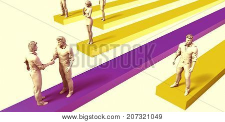 Sales Person and Top Performer in Selling 3D Illustration Render