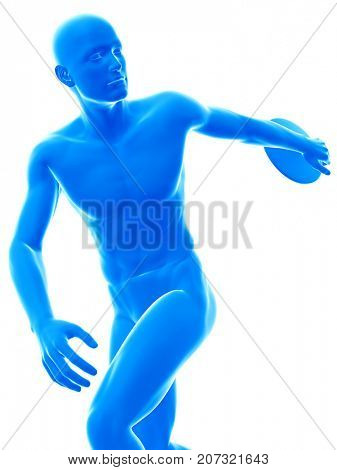 3d rendered medically accurate illustration of discus thrower
