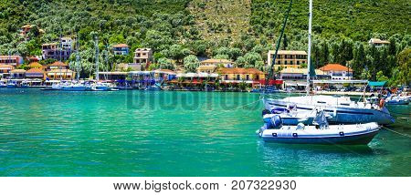Pictorial fishing village Sivota in Lefkada, Ionian islands of Greece