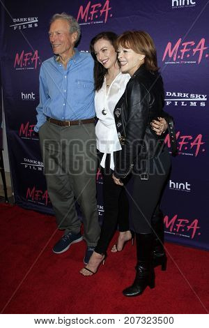 LOS ANGELES - OCT 2:  Clint Eastwood, Francesca Eastwood, Frances Fisher at the