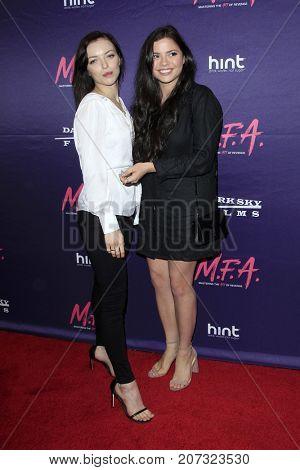 LOS ANGELES - OCT 2:  Francesca Eastwood, Morgan Eastwood at the