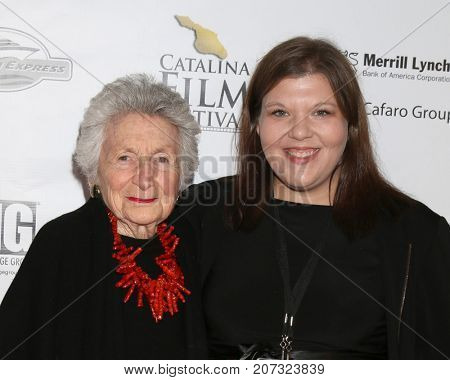 LOS ANGELES - SEP 30:  Marcia Nasatir, Jennifer Petrini at the Catalina Film Festival - September 30 2017 at the Casino on Catalina Island on September 30, 2017 in Avalon, CA