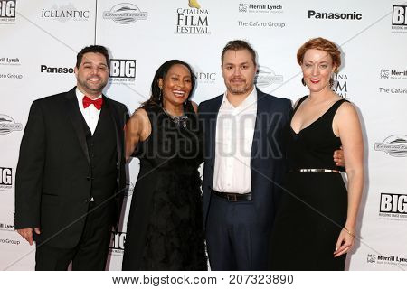 LOS ANGELES - SEP 30:  Ron Truppa, Tamika Lamison, Theodore Melfi, Adele Jones at the Catalina Film Festival - September 30 2017 at the Casino on Catalina Island on September 30, 2017 in Avalon, CA