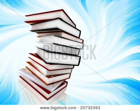 books on abstract background