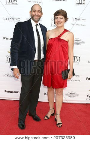 LOS ANGELES - SEP 30:  Paul-Anthony Navarro, Megan Morrison at the Catalina Film Festival - September 30 2017 at the Casino on Catalina Island on September 30, 2017 in Avalon, CA