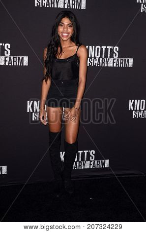 LOS ANGELES - SEP 29:  Teala Dunn at the Knott's Scary Farm and Instagram Celebrity Night at the Knott's Berry Farm on September 29, 2017 in Buena Parks, CA