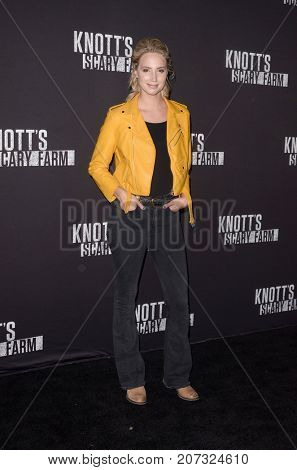 LOS ANGELES - SEP 29:  Molly McCook at the Knott's Scary Farm and Instagram Celebrity Night at the Knott's Berry Farm on September 29, 2017 in Buena Parks, CA
