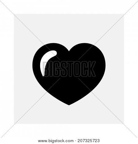 Shiny heart icon isolated on white