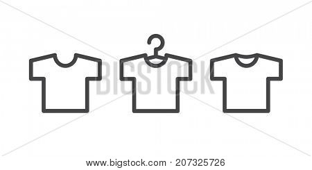 T-shirt icons isolated on white background