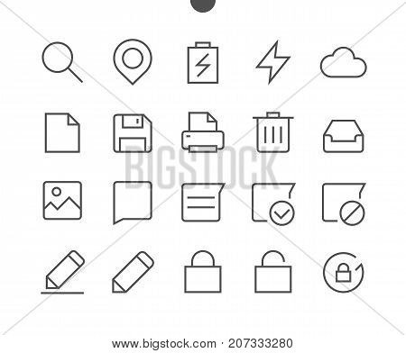 Settings UI Pixel Perfect Well-crafted Vector Thin Line Icons 48x48 Ready for 24x24 Grid for Web Graphics and Apps with Editable Stroke. Part 4-6