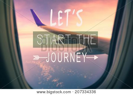 Travel Inspirational And Motivational Quotes - Go Travel And See The World. Retro Styles And Blurry