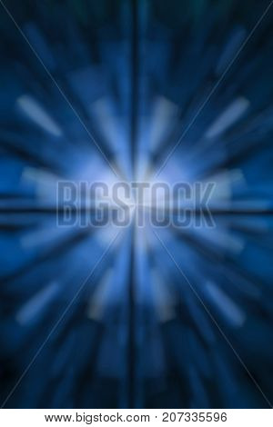 Beautiful blue abstract background with a white center