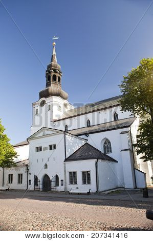View of St Mary Cathedral (Dome Church) on Toompea Hill in old Tallinn Estonia