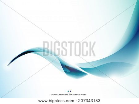 Blue stripe wave abstract background. Presentation template. Design layout. Wallpaper