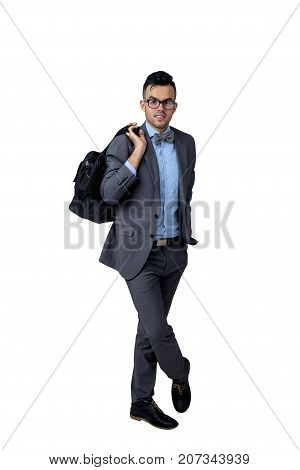 Portrait of successful handsome young business man (success integrity honesty hard work youth)