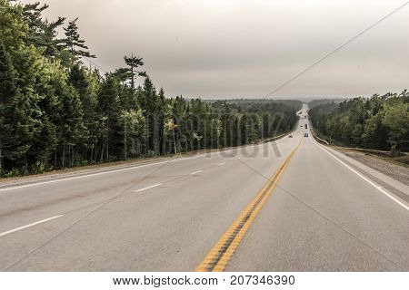 Trans Canada Highway new Brunswick Canada on Nova Scotia