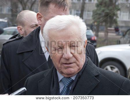 KIEV (KYIV) UKRAINE -March 22 2016:Ukrainian politician Alexander Moroz