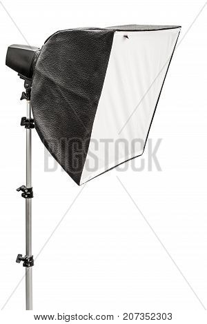 Big photographic softbox isolated on a white background