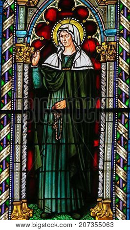 Stained Glass - Saint Rita