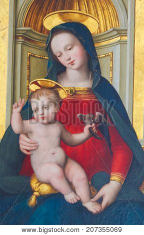 Madonna And Child - 16Th Century Painting