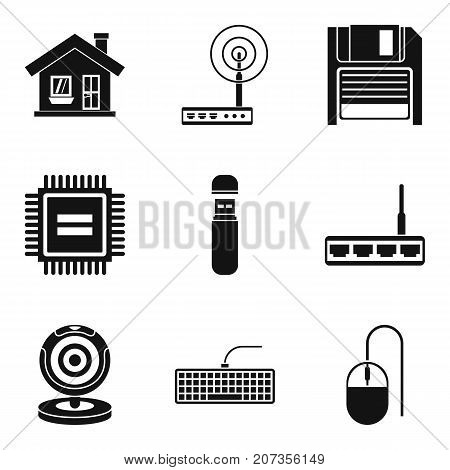 House surveillance icons set. Simple set of 9 house surveillance vector icons for web isolated on white background